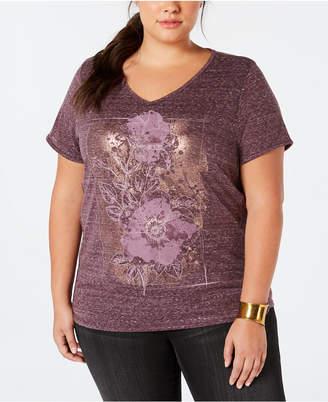 Style&Co. Style & Co Plus Size V-Neck T-Shirt