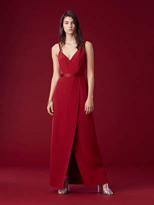 Diane von Furstenberg Asymmetric Side Slit Gown
