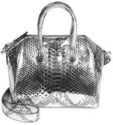 Givenchy Antigona Python-Print Leather Mini Bag