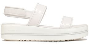 MICHAEL Michael Kors Peggy Patent-leather Platform Sandals