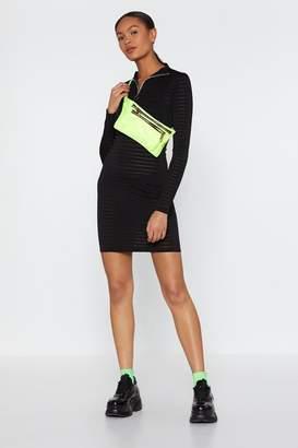 Nasty Gal Womens Do You Mesh Me Striped Mini Dress - Black - 6, Black