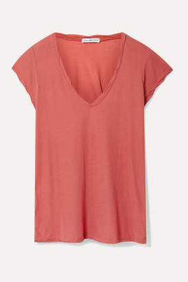 James Perse Cotton-jersey T-shirt - Coral