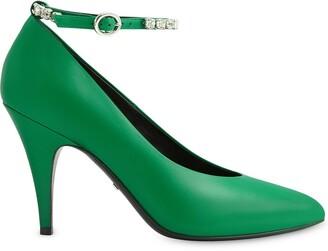 Gucci Décolleté embellished strap pumps