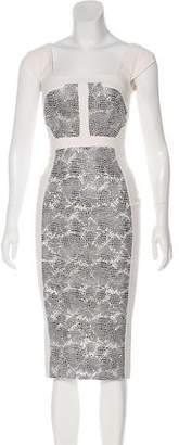 Antonio Berardi Perforated Animal Print Dress