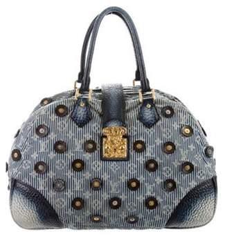 Louis Vuitton Denim Polka Dot Trunks Bowly Bag Blue Denim Polka Dot Trunks Bowly Bag