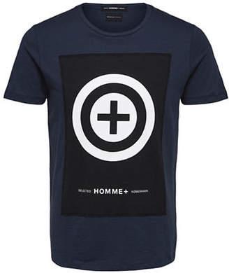 Selected Regular-Fit Logo Cotton T-Shirt