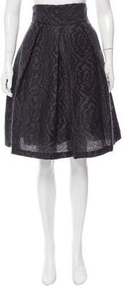 Brian Reyes Mohair-Blend Knee-Length Skirt w/ Tags