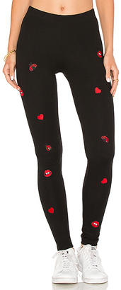 Lauren Moshi Aaliyah Fitted Legging in Black $165 thestylecure.com