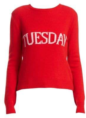 Alberta Ferretti Rainbow Week Capsule Days Of The Week Tuesday Sweater