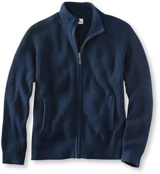 L.L. Bean L.L.Bean Men's Blue Jean Sweater, Full Zip