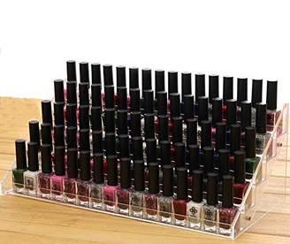 Cq acrylic 72 Bottles of 5 Layers Nail Polish Rack-Clear Nail Polish Display