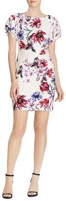 Lauren Ralph Lauren Petites Flutter-Sleeve Floral Jersey Dress