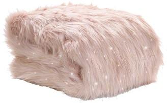 Catherine Lansfield Metallic Faux Fur Throw