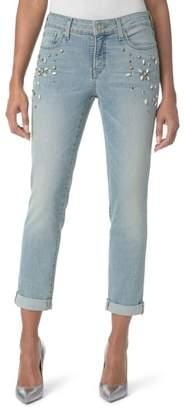 NYDJ Embellished Boyfriend Jeans