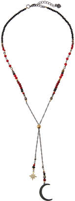 Nakamol Crystal Moon & Star Lariat Necklace