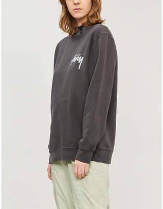 Stussy Logo-print jersey sweatshirt