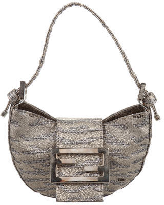 FendiFendi Lamé Micro Baguette Bag