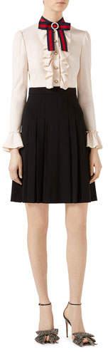Gucci Viscose Jersey Dress, Ivory/Black