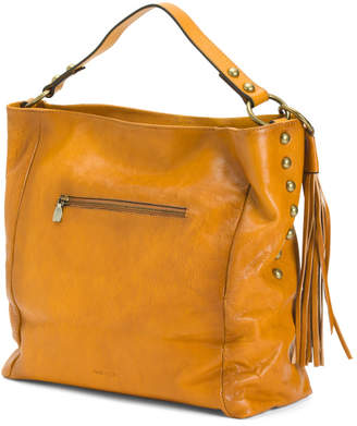 Made In Italy Leather Slouchy Hobo