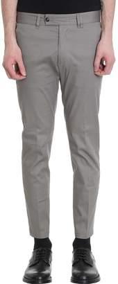 Mauro Grifoni Skinny Cotton Taupe Pants