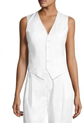 Polo Ralph Lauren Stretch-Cotton Twill Vest $198 thestylecure.com