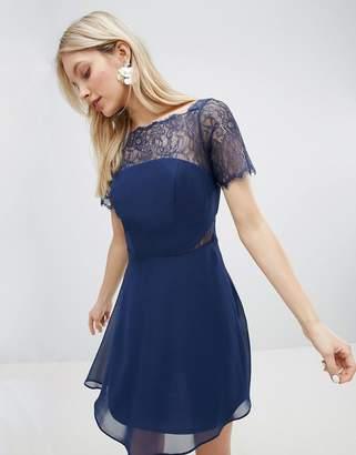 Asos DESIGN Lace Insert Paneled Mini Dress