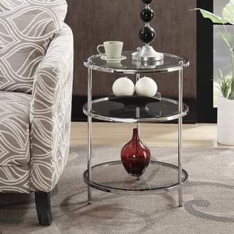 Convenience Concepts Royal Crest 3-Tier Round End Table