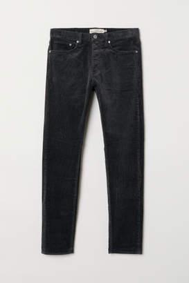 H&M Slim Corduroy Pants - Gray