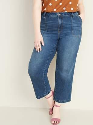 Old Navy High-Waisted Secret-Slim Pockets Plus-Size Wide-Leg Jeans