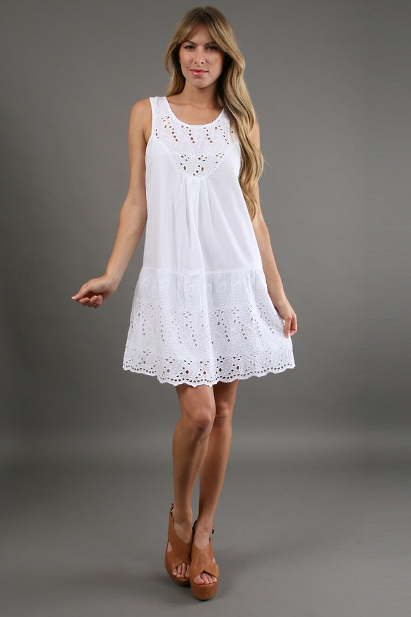 Patrons Of Peace Eyelet Dress in White