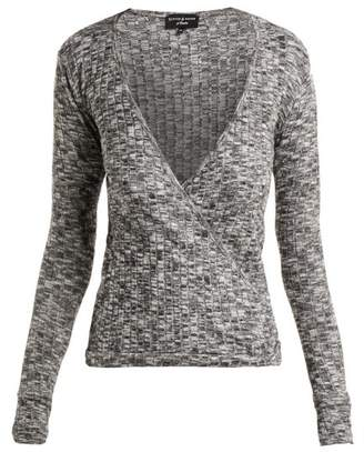 Pepper & Mayne Grace Ballet Wrap Top - Womens - Grey