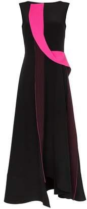Roksanda Efilia sleeveless sculptural trim silk dress