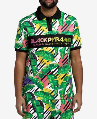 Black Pyramid Men's Leaf-Print Polo