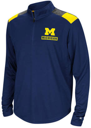 Colosseum Michigan Wolverines 99 Yards Quarter-Zip Pullover, Big Boys (8-20)