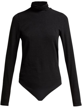 Wolford Colorado Lax Fit Bodysuit - Womens - Black Grey