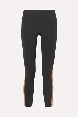 Olympia Activewear - Titus Ankle Striped Stretch Leggings - Black