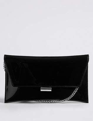 Marks and Spencer Faux Leather Fold Over Clutch Bag