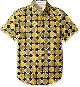 Original Penguin Men's Short Sleeve Lemon Print Shirt