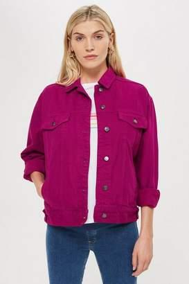 Topshop Womens **Maternity Raspberry Denim Jacket