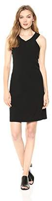 Nine West Women's Double V-Front Strap Shift Dress with Side Panels
