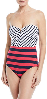 Tommy Bahama Channel Surfing Bandeau One-Piece Swimsuit