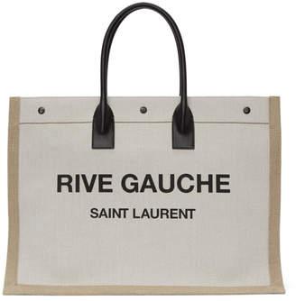 Saint Laurent Beige Rive Gauche Noe Tote