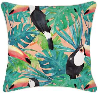 Camilla And Marc Escape to Paradise Toucan Indoor/Outdoor Cushion Cover, 45x45 cm