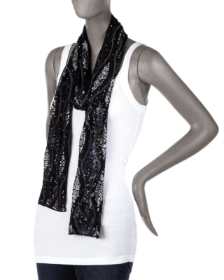Elizabeth Gillett Sequin Wave Scarf