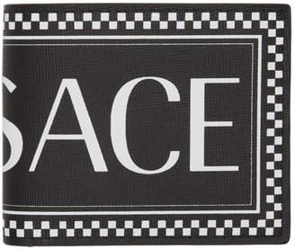 Versace (ヴェルサーチ) - Versace ブラック ビンテージ ロゴ ウォレット