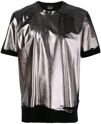 Just Cavalli metallic foil T-shirt