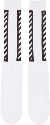 Off-White White Logo Socks $45 thestylecure.com