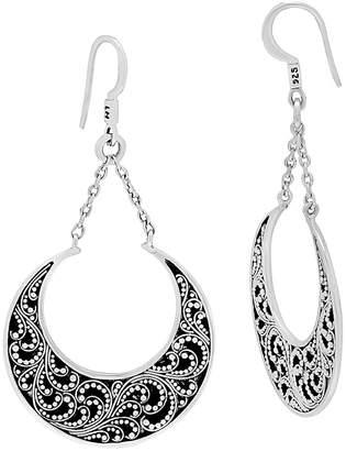 Lois Hill Silver Drop Earrings