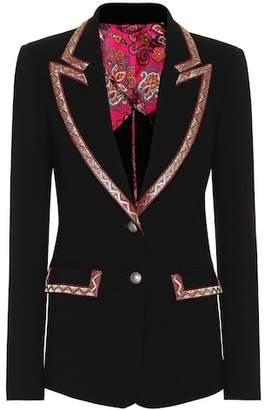 Etro Wool-blend crêpe blazer