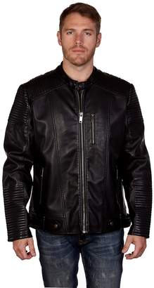 X-Ray Xray Men's XRAY Slim-Fit Faux-Leather Moto Jacket